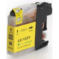 Cartouche jaune compatible Brother LC-121Y-123Y