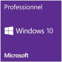 Microsoft Windows 10 Professionnel, version OEM, 64Bits