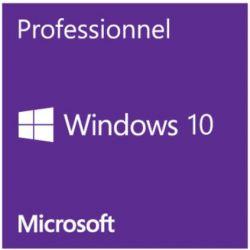 Microsoft Windows 10 Professionnel, version OEM, 64Bits