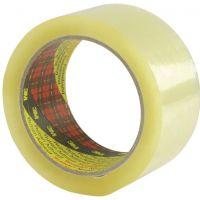 1 rouleau de Scotch transparent 3M pour colis, 66m x 50mm