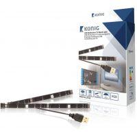 2 barres lumineuses LED USB 50cm pour TV RGB avec télécommande