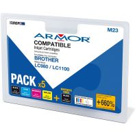 Pack Armor compatible Brother LC980-1100 DCP145-185C