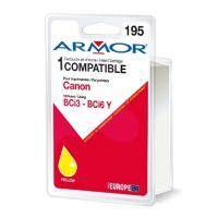Cartouche Armor Compatible Canon BCi3-6Y jaune, 16ml