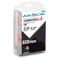 pack-de-2-cartouches-armor-compatible-hp-n-338-n-343