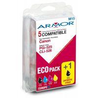 Pack Armor 4+1 compatibles Canon PGi-525 CLi-526