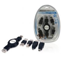 kit-cable-usb2-konig-retractable-4-embouts-differents