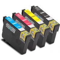 Pack de 4 cartouches noire compatible Brother LC-121BK/LC-123BK, 20ml