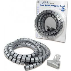 Gaine flexible en spirale, 2.5 mètres - coloris gris