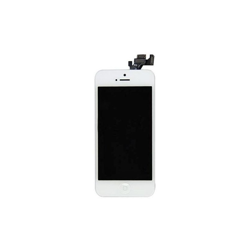 Ecran lcd vitre tactile iphone 5 blanc caron for Ecran noir appareil photo 3ds