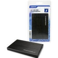 Boitier Maxinpower pour HDD/SSD sur USB 3.0, alu brossé, noir