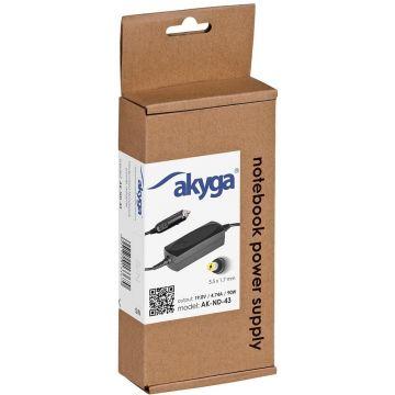 Akyga Car notebook power supply AK-ND-43 19V/4.74A 90W 5.5x1.7mm ACER