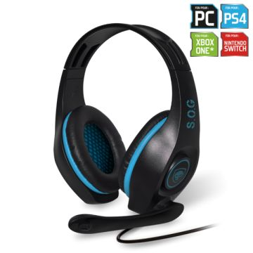 Casque micro Spirit Of Gamer Pro-H5, bleu, jack, PC / PS4 / XBOX ONE / Nintendo Switch