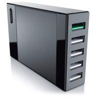 Chargeur Aukey PA-U37, 5 ports USB, 25w 5A