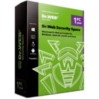 Clé de licence : DrWeb Security Space, 1PC - 1 an