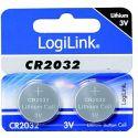 Lot de 2 piles CR2032 3V - Logilink