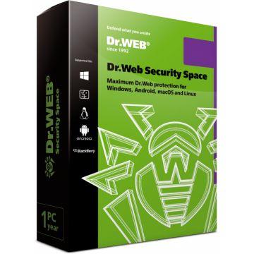 Clé de licence : Dr.Web Security Space, 1PC - 1 an