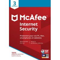 McAffee Internet Security 3 Appareils - 1 an