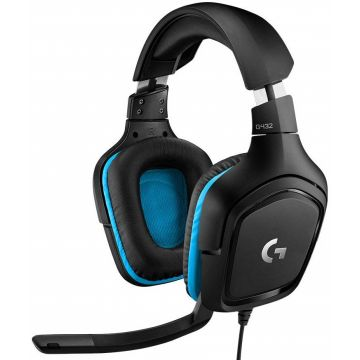 LOGITECH G432 Wired Gaming Headset 7.1, USB