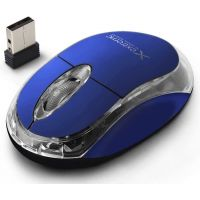 Souris sans fil Extreme XM105R Wireless Optical Mouse 3D, bleue