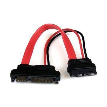 Adaptateur SATA Slimline de 15 cm vers SATA avec alimentation