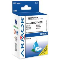 Cartouche Armor cyan compatible Brother LC985C, 18ml