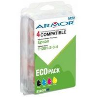 Pack Armor compatible Epson T1281-T1282-T1283-T1284