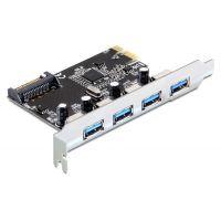 Carte contrôleur PCI-E Delock 4 ports USB3.0