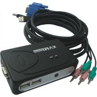 KVM 2 UC VGA/USB + audio avec câbles