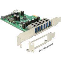 Carte contrôleur PCI-E Delock 6 ports USB3.0